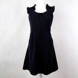 THML Navy Ruffle Sleeveless A-Line Dress Medium